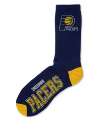 For Bare Feet Indiana Pacers Deuce Crew 504 Socks Blue Yellow