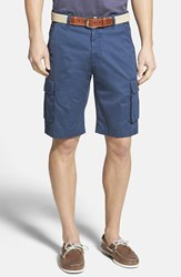 Men's Robert Graham 'Globe Trotter' Cargo Shorts Dark Navy