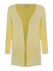 Oui 3 4 Sleeve Cardigan Yellow