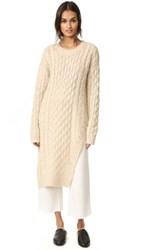 J.O.A. Cable Knit Sweater Ivory
