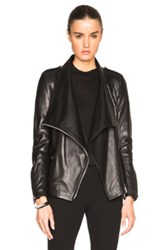 Barbara Bui New Leather Perfecto Jacket In Black