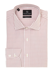 Chester Barrie James Window Check Shirt Wine