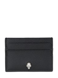Alexander Mcqueen Skull Grained Leather Card Holder