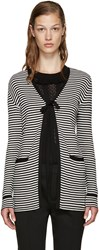 Marc Jacobs Black And White Striped Cardigan