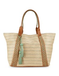 Steve Madden Jiggyy Leather Trimmed Tote Camel