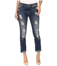 7 For All Mankind Josefina W Aggressive Destroy In Vintage Kensington Vintage Kensington Women's Jeans Blue