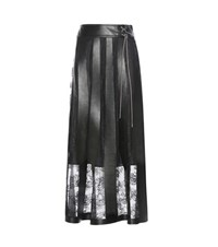 Christopher Kane Pleather And Lace Skirt Black