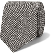 Drakes 8Cm Puppytooth Wool And Cashmere Blend Tie Gray