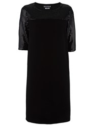 Boutique Moschino Sequin Embellished Panel Dress Black