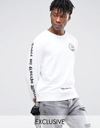 Cheap Monday Over My Dead Body Sweater White