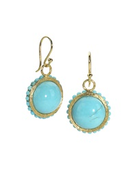 Elizabeth Showers Tree Of Life Turquoise Earrings
