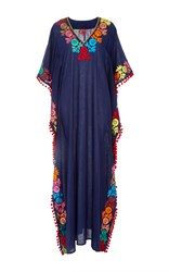 Chantik Long Pom Pom Kaftan Navy