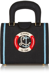 Olympia Le Tan Bernard Bouee Embroidered Canvas Tote