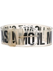 Moschino Vintage Logo Belt White