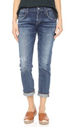 A Gold E Isabel Slim Boyfriend Ankle Jeans Starwood Distressed