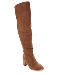 French Connection Clementina Above The Knee Boots Tan