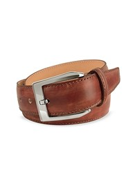 Pakerson Men's Brown Hand Painted Italian Leather Belt