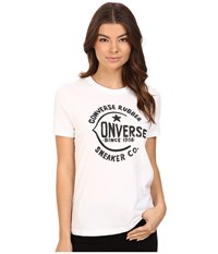 Converse Archive Logo Short Sleeve Tee White Women's T Shirt