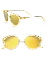 Westward Leaning Flower 8 51Mm Round Sunglasses Champagne