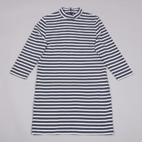 Wood Wood Mary Dress In Navy Stripe