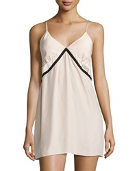 Carolina Herrera Sleeveless Two Tone Chemise Champagne Black