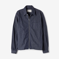 Our Legacy Denim Short Zip Shirt Indigo