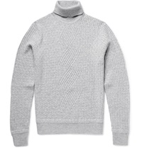 Berluti Cable Knit Cashmere Rollneck Sweater Gray