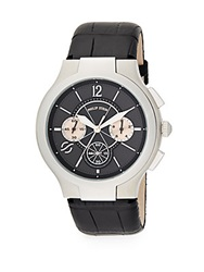 Philip Stein Teslar Stainless Steel Chronograph Watch Black Silver