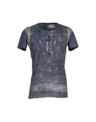 We Are Replay T Shirts Slate Blue