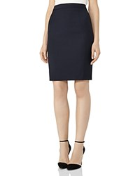 Reiss Indi Textured Skirt Navy
