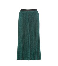 Vanessa Bruno Metallic Pleated Skirt Green