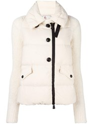 Moncler Grenoble High Neck Buttoned Jacket White