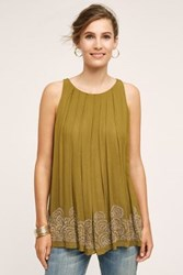 Anthropologie Leda Swing Tank Bronze
