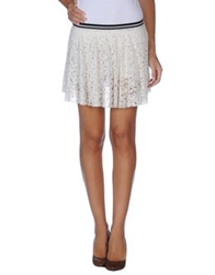 Twenty Easy By Kaos Mini Skirts Ivory