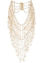 Rosantica Ninfea Gold Tone Pearl And Rock Crystal Necklace