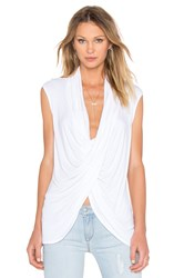 Fifteen Twenty V Neck Cross Over Top White