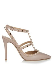 Valentino Rockstud Leather Pumps Nude