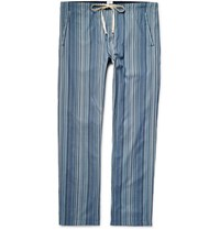 Paul Smith Mith Triped Cotton Pyjama Trouer Blue