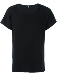 R 13 R13 Scoop Neck T Shirt Black