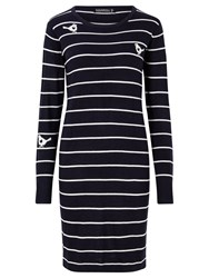 Sugarhill Boutique Love Bird Knit Dress Navy Cream