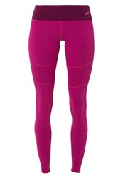 Asics Tights Berry Speckle Print Pink