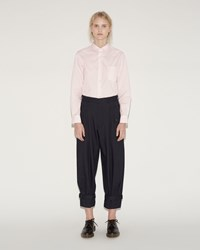 Comme Des Garcons Wool Twill Trousers Navy