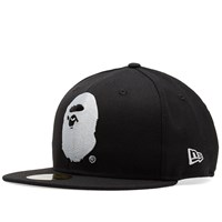 A Bathing Ape New Era Head Cap Black