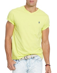 Polo Ralph Lauren Jersey V Neck Neon Yellow