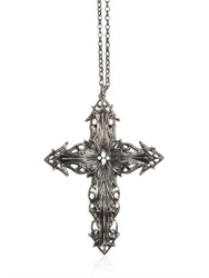Emanuele Bicocchi Silver Chunky Cross Pendant Necklace
