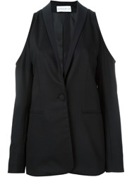 Wanda Nylon 'Joan' Cut Out Shoulder Jacket Black