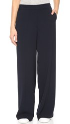 James Jeans Wide Leg Trousers Midnight Crepe
