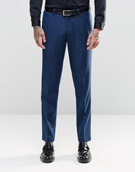 Asos Slim Suit Trouser In Navy Twist Navy