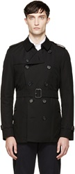 Black Sandringham Short Trench Coat