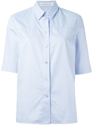 Victoria Beckham Denim Short Sleeve Shirt Blue